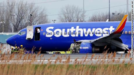 The Southwest jet suffered serious damage to the engine under its left wing.