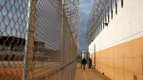 LUMPKIN, GA - MAY 4: The Stewart Detention Center in Lumpkin, Ga. (Photo by Jonathan Wiggs/The Boston Globe via Getty Images)