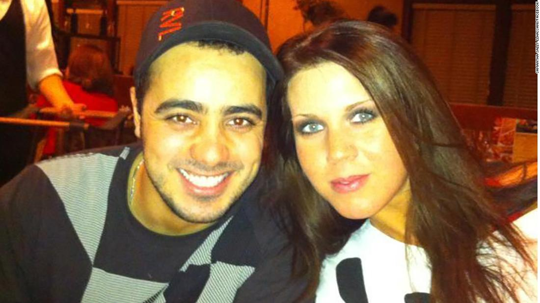 A Facebook image from 2013 shows Samantha Sally, right, with Moussa Elhassani.
