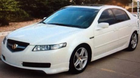 Lois Riess is believed to be driving Pamela Hutchinson's white Acura TL, police said.