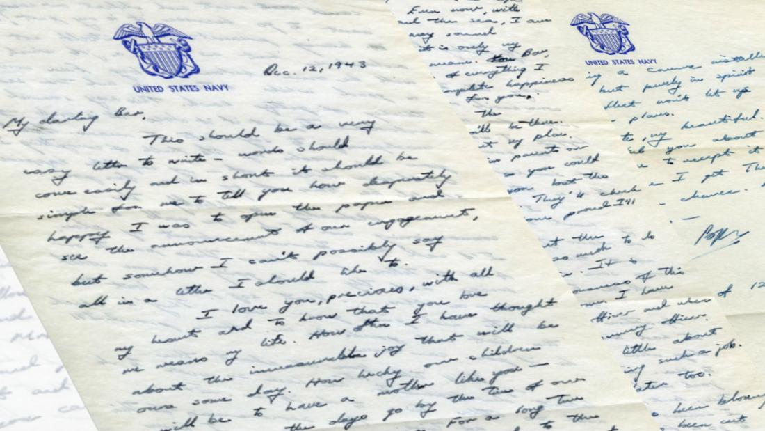 Read a love letter Bush Sr. sent to Barbara Bush during World War II