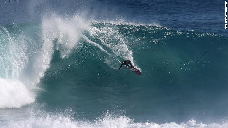 Surfer with shark