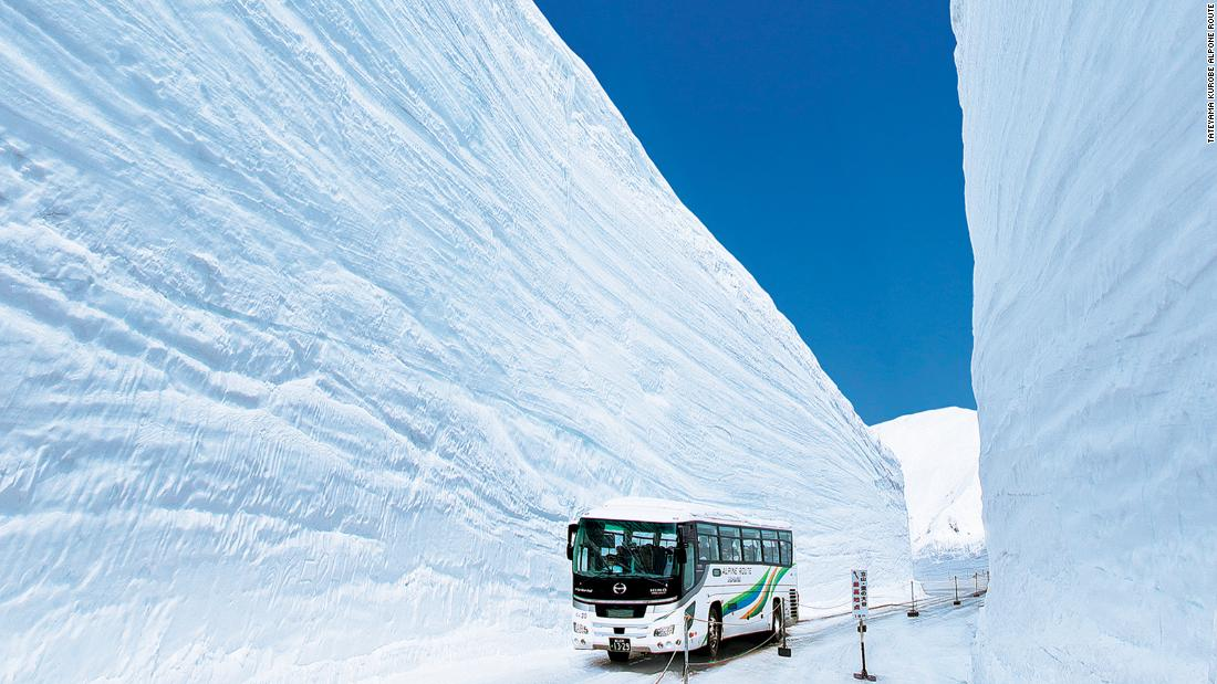 Walk through this 17-meter-deep snow tunnel