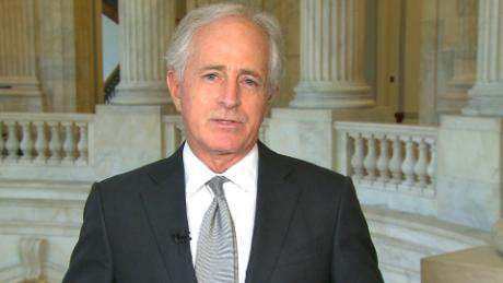 Bob Corker says GOP senators are working on plan to 'push back' on Trump policy