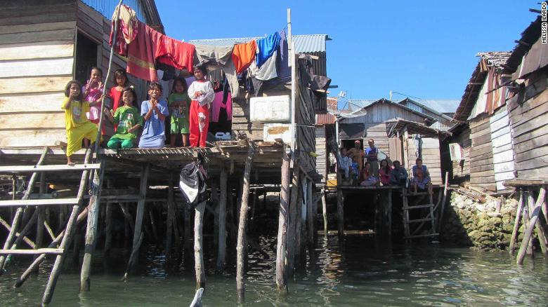 The seaside village of Jaya Bakti in Sulawesi, Indonesia, is inhabited largely by Bajau people.