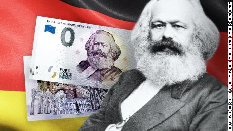 Marx's German hometown of Trier sold €0 bills in honor of his 200th birthday.