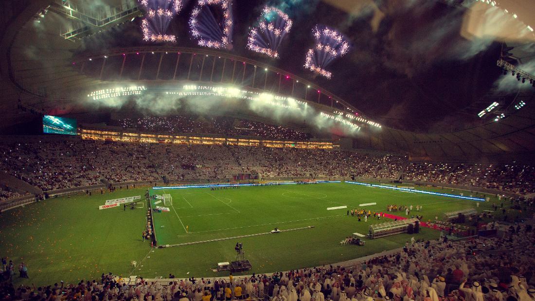 The Khalifa International Stadium in Doha, Qatar.