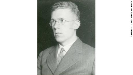 Fig. 1 Portrait of Hans Asperger (1906--1980) from his personnel file, ca. 1940 (WStLA, 1.3.2.202.A5, Personalakt)