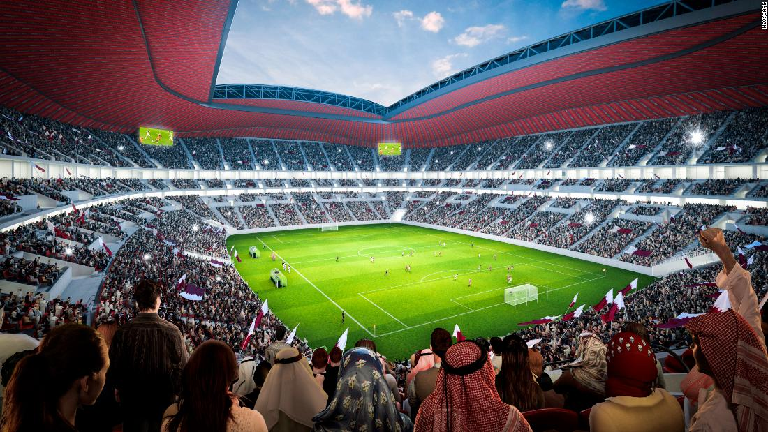 The stadium design, which depicts a giant tent structure, honors Qatar's past and present, according to Qatar's Supreme Committee for Delivery and Legacy.
