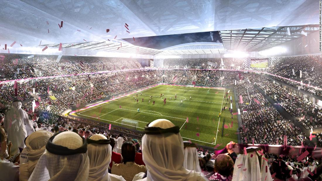 An artists' impression of the Al Rayyan Stadium which will host matches up until the quarterfinal stage of the tournament.