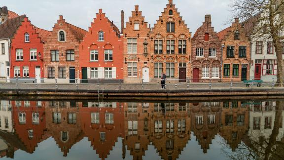 """Bruges, Belgium: Sometimes called """"The Venice of the North,"""" the West Flanders capital is celebrated for its many canals and UNESCO-protected historic center."""