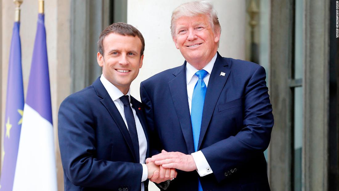 Trump hosts France's President Macron