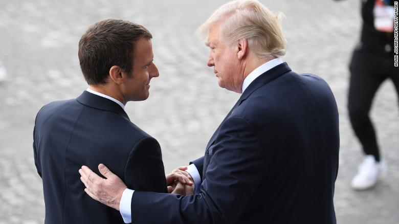Trump-Macron: Red carpet meeting