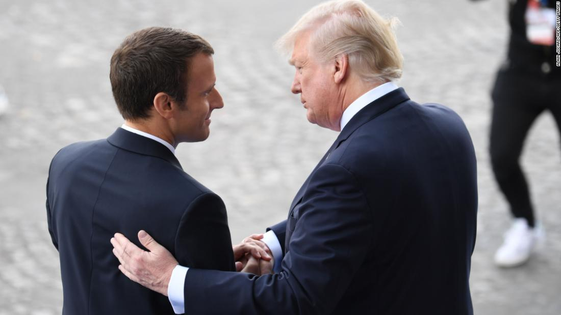 Trump-Macron: Red carpet treatment belies differences on Iran, Syria
