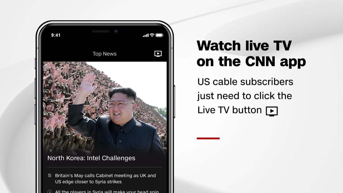 How to watch CNN Live in the mobile app