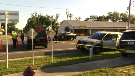 Scene from Trenton, FL where affiliates are reporting two deputies have been shot and killed.