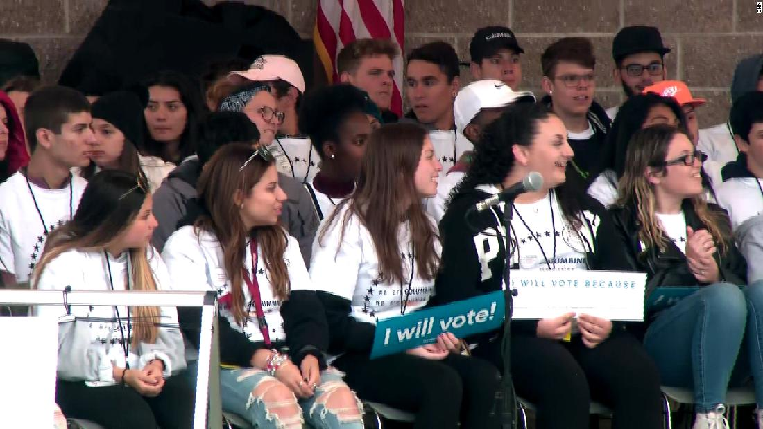 Columbine survivors and Parkland students rally for change 19 years after massacre