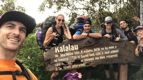 The group of friends snapped this photo on Wednesday at the beginning of their journey.
