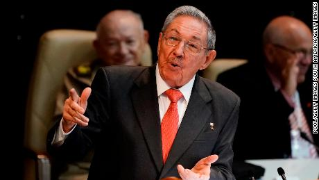 HAVANA, CUBA - Former president Raul Castro addresses the National Assembly after Diaz-Canel was elected as the nation's new president at Convention Palace on April 19, 2018, in Havana, Cuba Diaz-Canel will be the first non-Castro Cuban president since 1976. Raul Castro steps down after 12 years in power. (AP Ramon Espinosa/Pool/Getty Images )