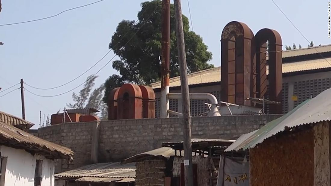 The chimneys of a lead smelting factory loom over the village of Owino Uhuru. The factory spewed lead-laden smoke and effluent into the village, in and off, from 2007-2014.