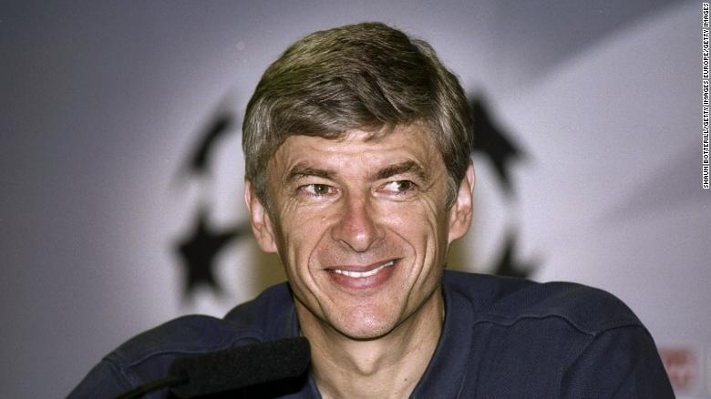 29 Sep 1999:  Arsenal manager Arsene Wenger looks pleased with his teams performance after the Barcelona v Arsenal UEFA Champions League Group B match played at the Nou Camp, Barcelona, Spain. The game finished in a 1-1 draw.  \ Mandatory Credit: Shaun Botterill /Allsport