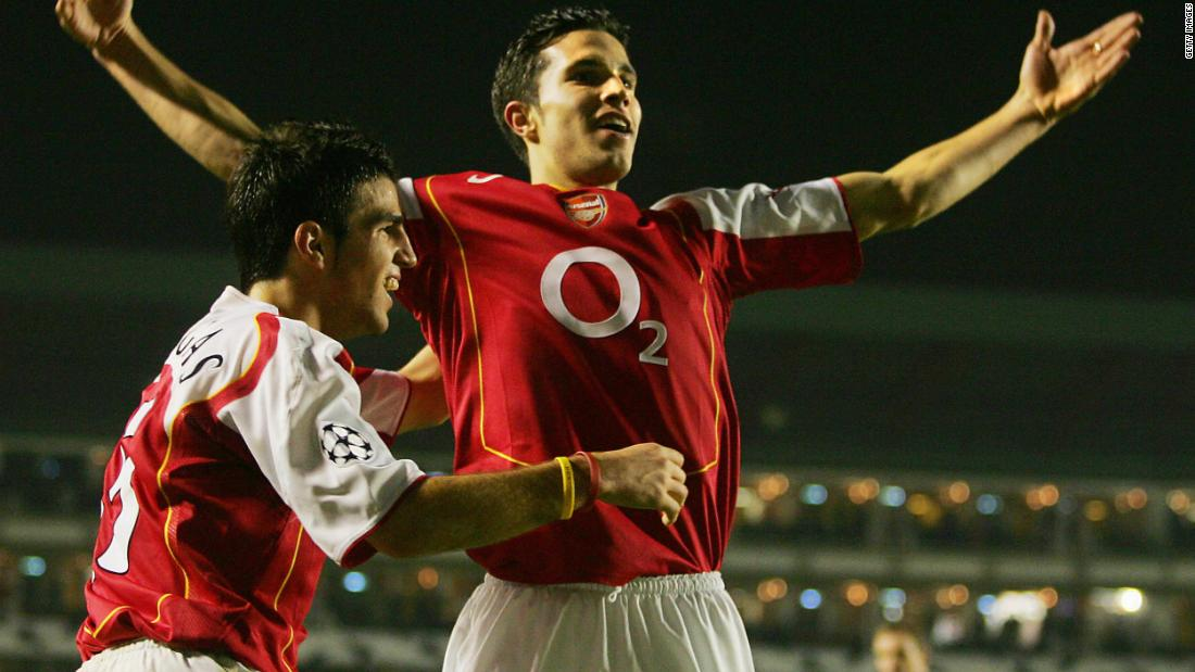 At the end of the 2003-2004 season, he also signed Dutch striker Robin Van Persie for £3 million -- who once said Wenger was the best manager in the world.