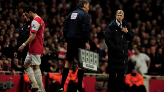 Years passed and fans hope faded. Wenger struggled to hold onto key players, and lost the likes of Fabregas, to Barcelona, and Van Persie -- who joined rivals Manchester United.