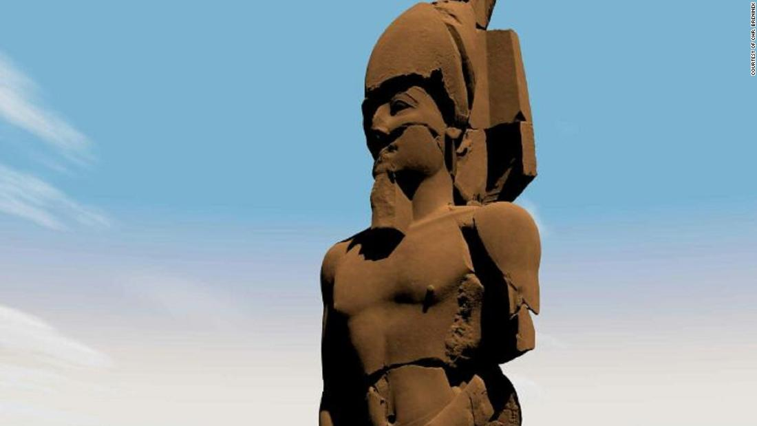 Colossal statue of 'forgotten' pharaoh brought to life