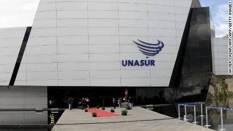 View of the UNASUR headquarters during the Foreign Ministers' summit, in Quito, on April 23, 2016. / AFP / JAVIER CAZAR        (Photo credit should read JAVIER CAZAR/AFP/Getty Images)