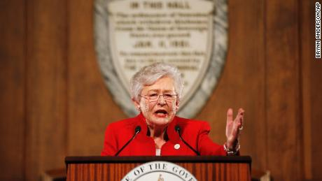 Alabama Gov. Kay Ivey gives the annual State of the State address at the Capitol, Tuesday, Jan. 9, 2018, in Montgomery, Ala. (AP Photo/Brynn Anderson)