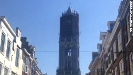 The Dom Tower in the Dutch town of Utrecht is the highest church tower in the country.