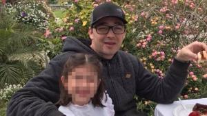 Anthony Mele and his daughter are seen in a photo from a GoFundMe page. Mele, 35, was stabbed to death in a random attack on Wednesday, April 18, 2018, at a seaside steak restaurant in Ventura. The young girl was sitting in his lap when he was stabbed. A homeless man was taken into custody and has been charged with first-degree murder. (Photo from GoFundMe)