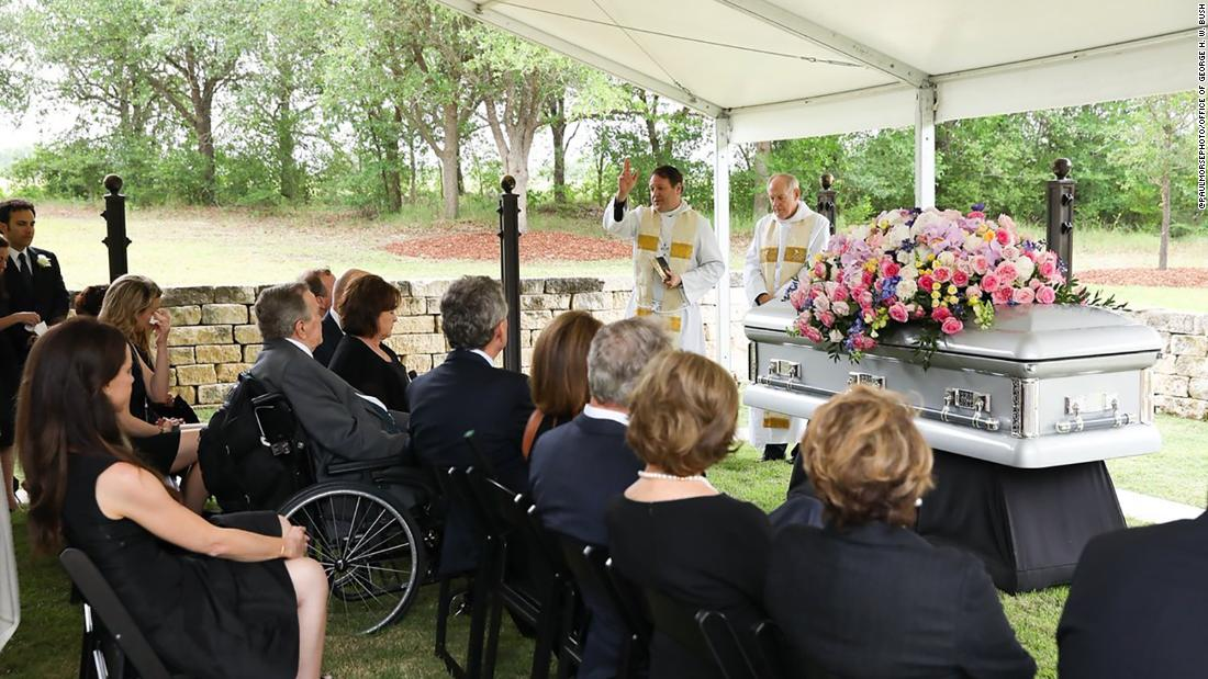 Members of the Bush family attend the interment of Barbara Pierce Bush in College Station, Texas.