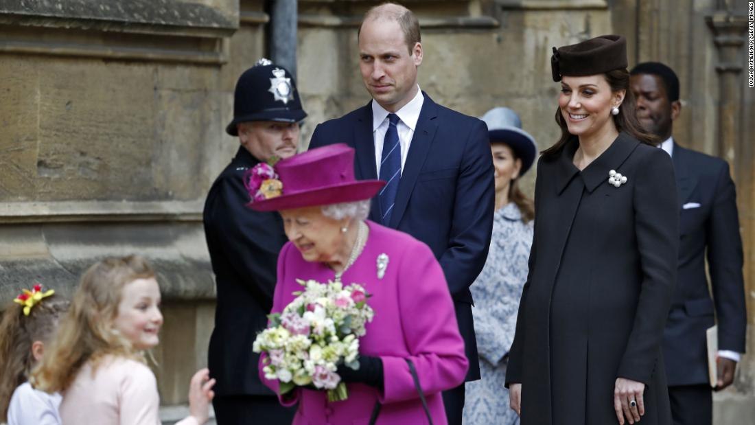 Will and Kate attend Easter service with Queen Elizabeth II on April 1.