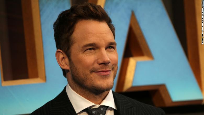 "Chris Pratt arrives at the European Gala screening of ""Guardians of the Galaxy Vol. 2"" in London on April 24, 2017."