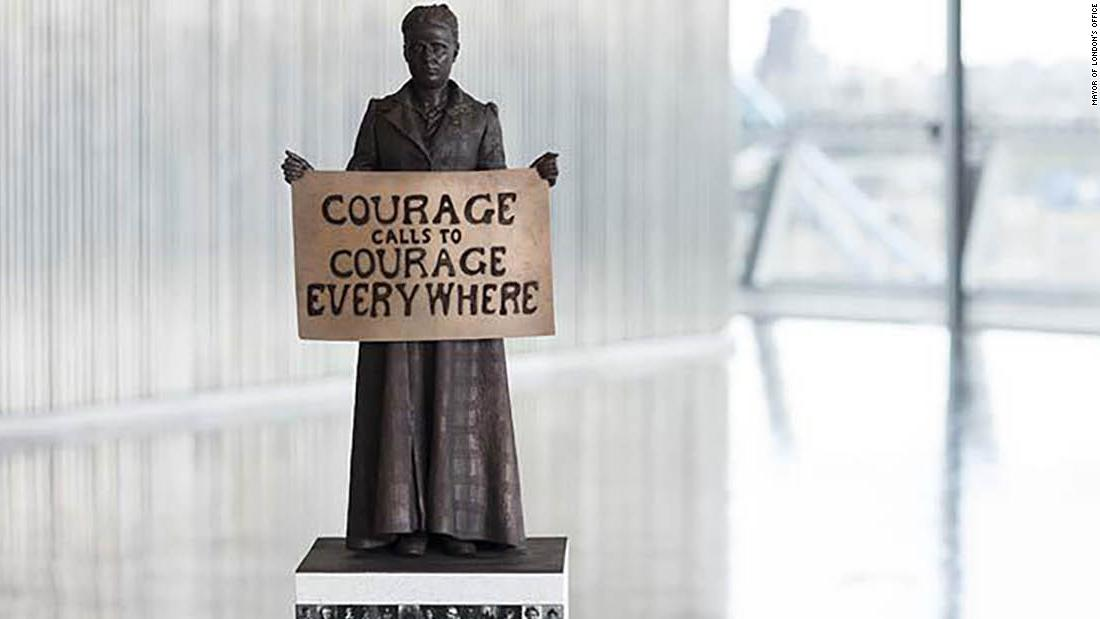 millicent fawcett a statue of a woman where only men