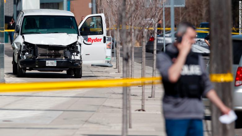 toronto attack suspected van driver charged with murder cnn