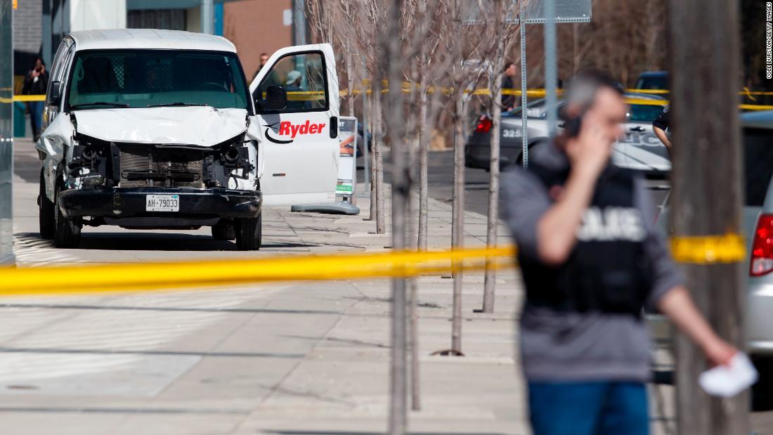 A van speeds across Toronto sidewalks, leaving 10 pedestrians dead