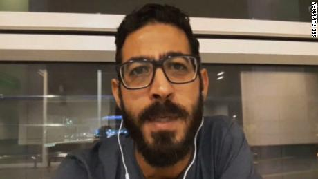 "A Syrian man has spent more than a month living in the transit zone of a Malaysian airport after being left stranded by airlines and immigration officials.  +++++++++++++ Sources: CNN, Twitter/ @Kontar81, Hassan Al-kontar, Facebook/ Hassan al-Kontar, Syrian War Media, Dreamworks /""The Terminal"""