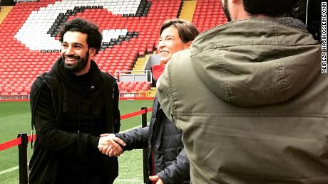 Salah gives CNN a tour of Anfield stadium.