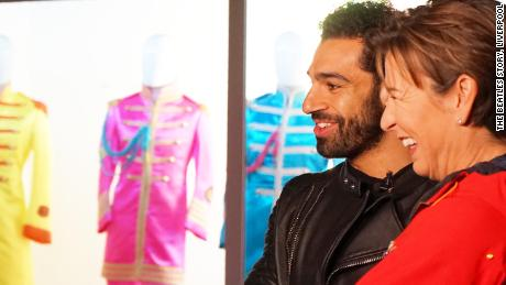 Salah and Becky Anderson spend time at the Beatles Museum in Liverpool.