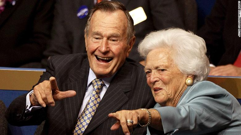 Cartoon Shows George H W Bush Reunited With His Wife And Daughter