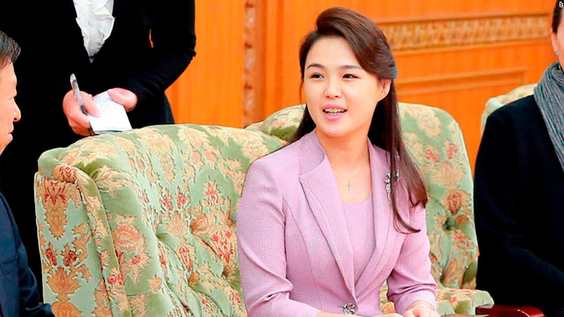 Ri Sol Ju, the wife of North Korean leader Kim Jong Un, seen in an April 14, 2018 photo published by state media. Ri has taken a far more prominent role as North Korea's First Lady than her predecessors.