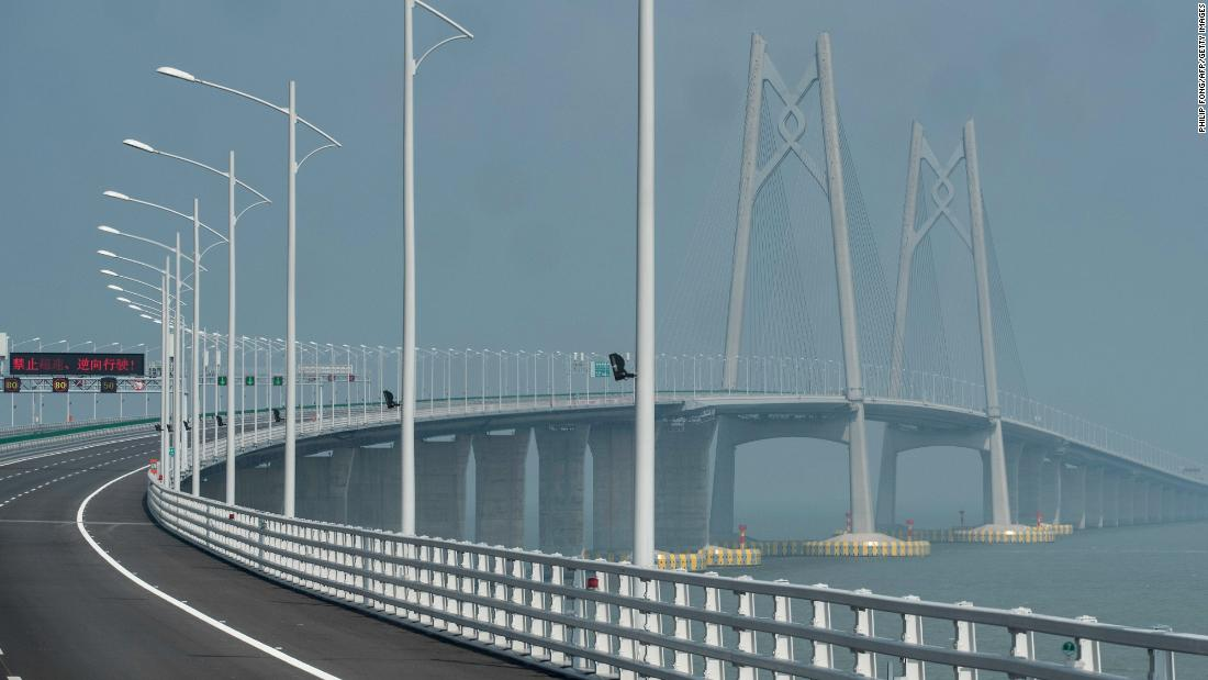 The speed limit on the bridge has been set at 62 miles (100 kilometers) an hour. Cars will drive on the right along the Chinese sections of the bridge, and switch to the left in Hong Kong and Macau, to match the driving styles in each city.