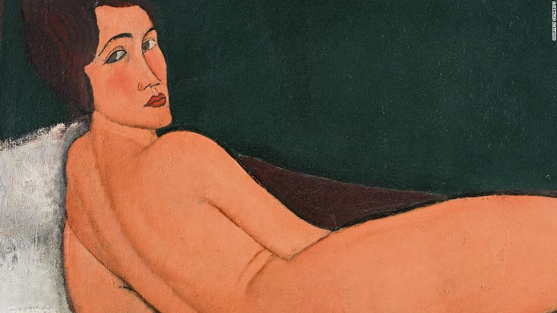 Censored nude painting breaks auction record