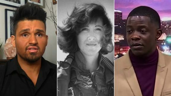 Diego DeMatos, Tammie Jo Shults and James Shaw Jr., left to right.