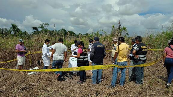 Officers unearth the body of a Canadian man who authorities say was lynched by a mob in Peru.