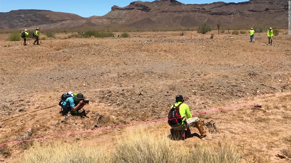 members of the nonprofit search and rescue group aguilas del desierto desert eagles searched