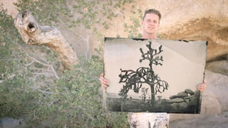 Ian Ruhter took his van turned collodion camera to Joshua Tree National Park