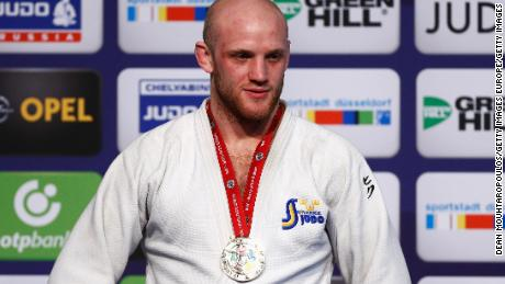DUSSELDORF, GERMANY - FEBRUARY 21:  Marcus Nyman of Sweden poses with his gold medal for the mens -90kg during the Dusseldorf Judo Grand Prix held at Mitsubishi Electric Halle on February 21, 2016 in Dusseldorf, Germany.  (Photo by Dean Mouhtaropoulos/Getty Images)